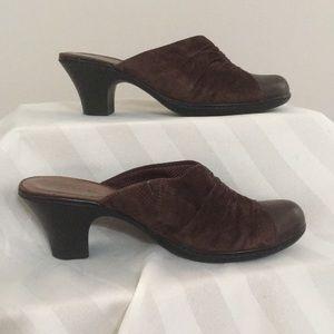 Clark's open heel Sz 8